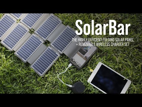 SolarBar: Most Efficient Solar Panel + Wireless Charger Set