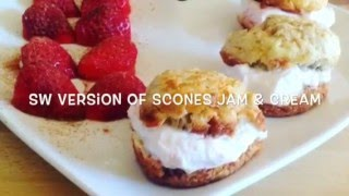 SLIMMING WORLD VERSION OF SCONES, CREAM & JAM 1/2 syn!