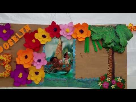 Decoracion de fiesta moana youtube for Carretillas de adorno para jardin