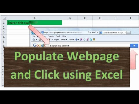 Populate Internet Textbox, Fill Forms, click Submit using Excel