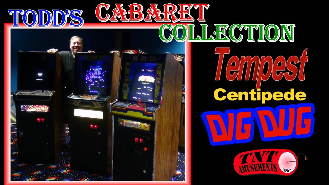 1173 Atari TEMPEST - CENTIPEDE - DIG DUG Cabaret Arcade Video ...