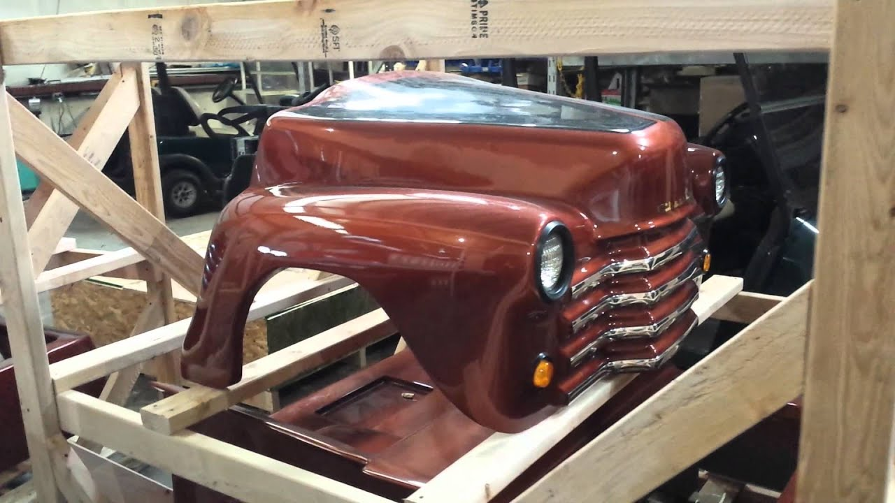 Brand New 7' Old Truck Custom Club Car Golf Cart - YouTube