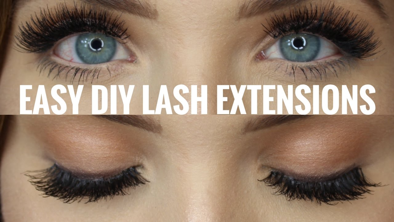 93567e75960 DIY Eyelash Extensions - Quick & Easy! | Faith Drew - YouTube