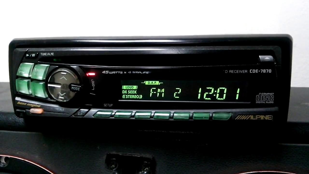 alpine cde 7870 old school youtube rh youtube com Alpine CDE 7870 Setting Clock Truck Receiver CD Player Alpine