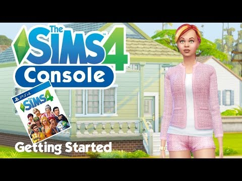 Playing The Sims 4 PS4 For The First Time // PlayStation CAS And Controls Overview (Sims 4 Console)