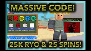 [056] NEW MASSIVE CODE 25 SPINS & 25K RYO!|REANIMATION GLITCH!|ROBLOX NRPG- Beyond |