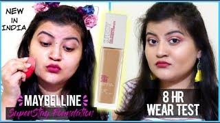 *NEW IN INDIA*  Maybelline Superstay 24H Foundation | DETAILED REVIEW & WEAR TEST