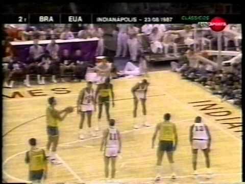 Jogos Pan-Americanos de Basquete  (1987) - Brasil x EUA