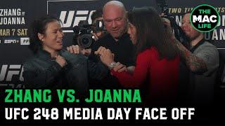 Zhang Weili tells Joanna Jedrzejczyk to