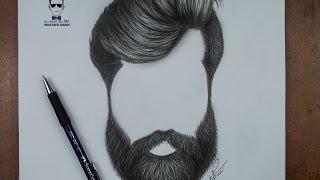كيفية رسم اللحية والشارب للرجل بالرصاص how to draw a beards