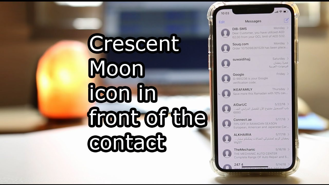 Why There Is Moon Icon In Front Of The Contact In Your Iphone Youtube