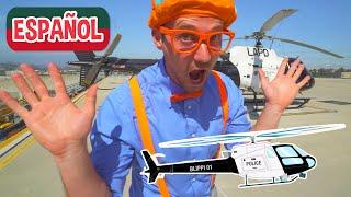 Blippi Español y el Helicóptero de la Policía | Carros de Policía para Niños | Videos Educativos