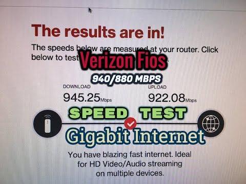 Verizon Fios Gigabit Internet Speed Test 940/880 | iTimPeou2000