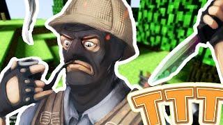 MURDER MYSTERY TROUBLE IN TERRORIST TOWN TTT! - Minecraft Meets Garry's Mod (Custom Modded Minigame)