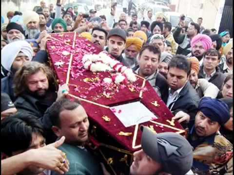 Tribute to Kuldeep Manak...and Funeral video