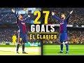 جميع اهداف ليونيل ميسي 27 في ريال مدريد وجنون المعلقين 2018