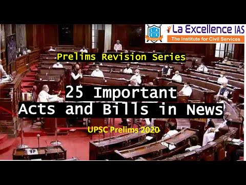 Important Acts and Bills in News ||Mana Laex Mana Kosam