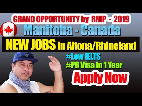 RNIP Manitoba, Canada Started Taking Job Application From Foreign