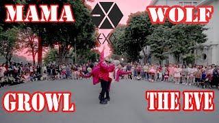 [KPOP PUBLIC CHALLENGE] 엑소(EXO) - MAMA + 늑대와 미녀(Wolf) + 으르렁(Growl) + The Eve Dance Cover @FGDance