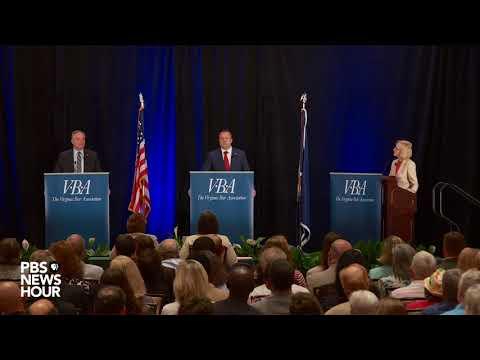 Watch Sen. Tim Kaine debate Corey Stewart in the first U.S. Senate debate in Virginia