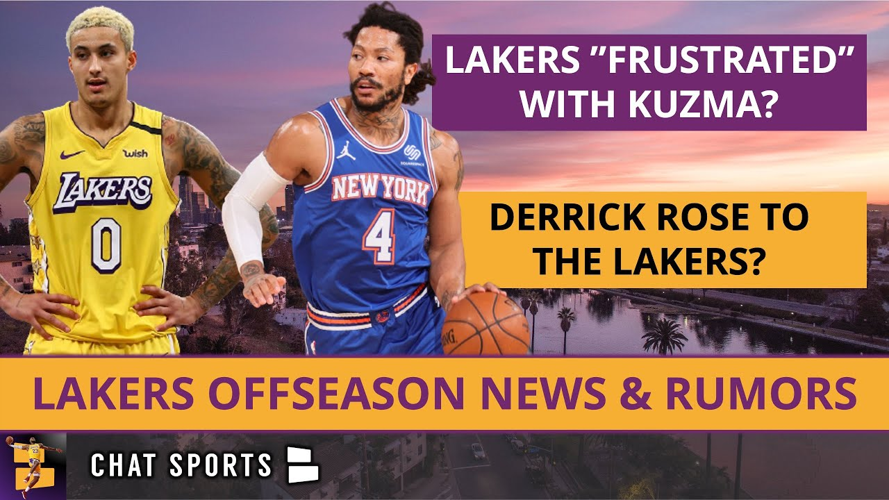 """Lakers Rumors: Lakers """"Frustrated"""" With Kyle Kuzma; Trade Coming? Lakers Interested In Derrick Rose?"""