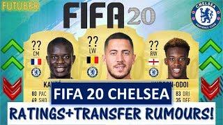 FIFA 20 | CHELSEA PLAYER RATINGS!! FT. HAZARD, KANTE, HUDSON-ODOI ETC... (TRANSFER RUMOURS INCLUDED)