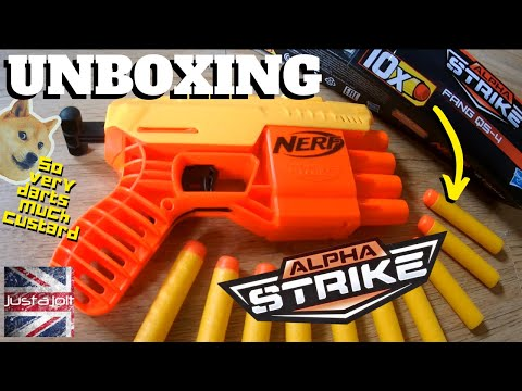 New Nerf Alphastrike Fang Unboxing: More Custard Nerf Darts Than You Can Shake A Nerf QS-4 Fang At.