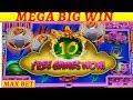 ☆MEGA BIG WIN☆ New Konami Scroll of Wonder Slot Machine Max Bet Bonus MASSIVE WIN |Timber Wolf Bonus