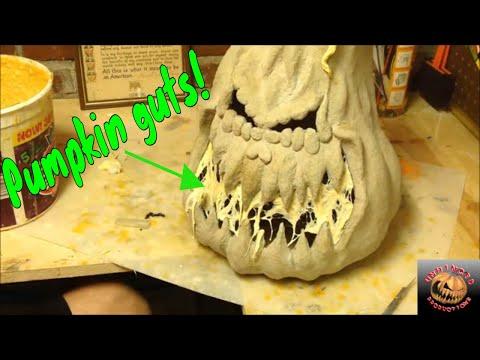 How to make a paper Mache Pumpkin 2nd Generation part 3