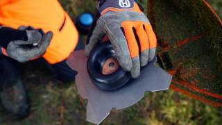 How to change from trimmer head to grass blade