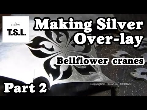 "Silver jewelry making ""Bellflower cranes"" 2/4 シルバーアクセサリーの作り方"