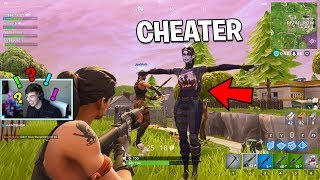 SO I played with the Fortnite CHEATER again.. (Fortnite Battle Royale)