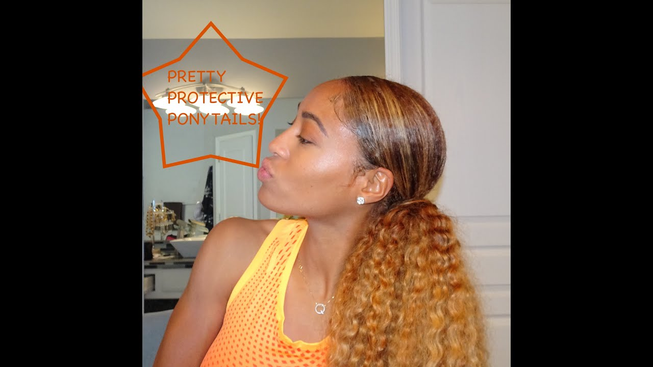 Protective Styling Part 1 Pretty Ponytails Feat Curly Hair