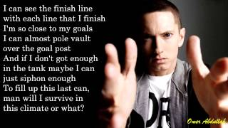 Download Eminem - Survival Of The Fittest w/LYRICS ON SCREEN [HD] MP3 song and Music Video