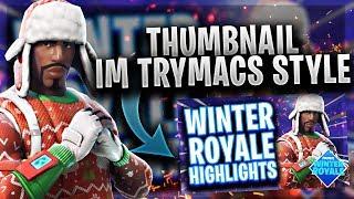 Thumbnail im Trymacs Style | Photoshop Tutorial | [German]