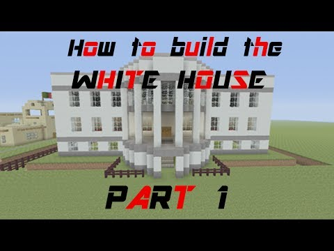 Minecraft Tutorial: How to build the white house (part 1)