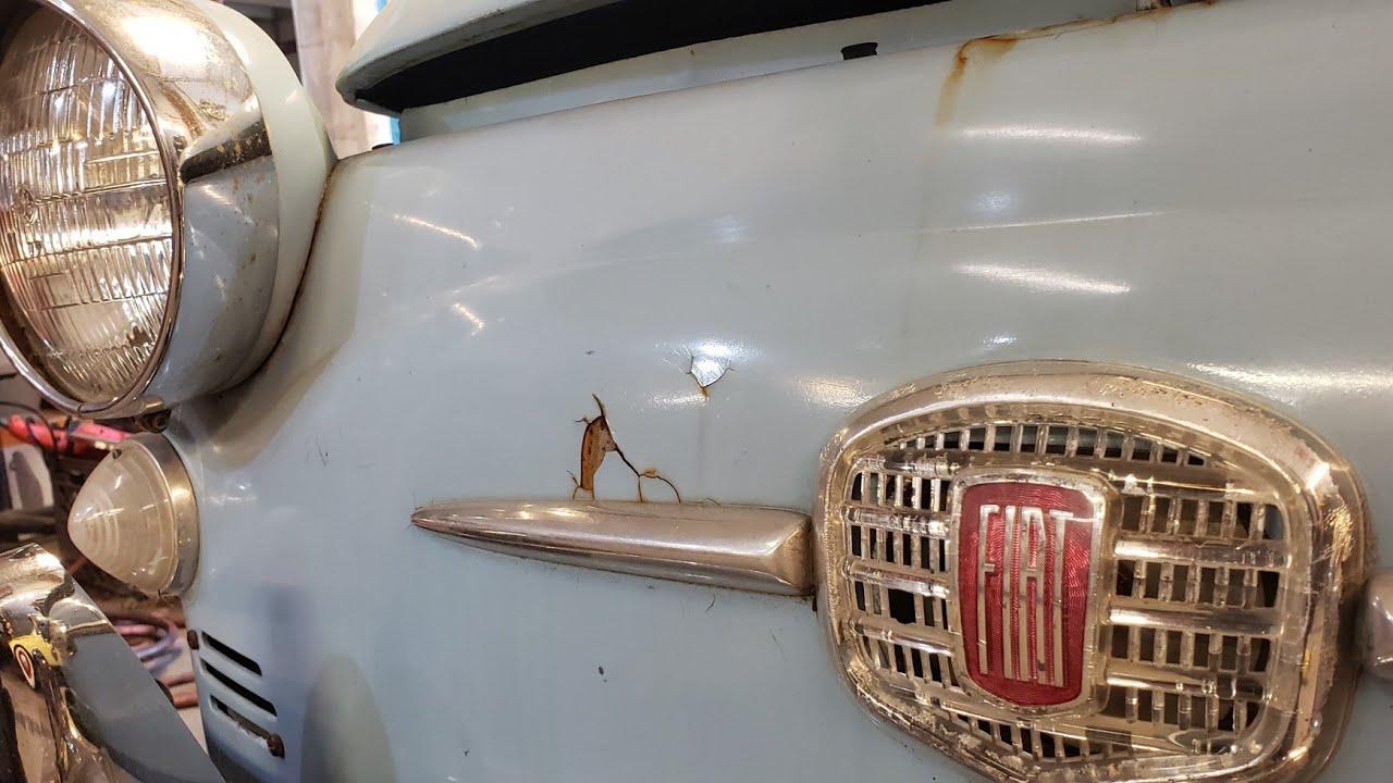 Barn Bustin-find Baby Blue Bugeye 1959 Fiat 500