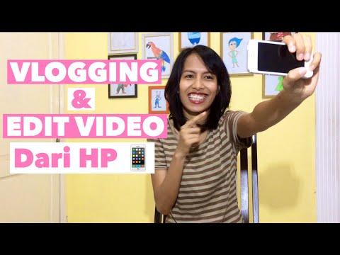 CARA BUAT VLOG DAN EDIT VIDEO YOUTUBE DARI HANDPHONE (HP) | iPhone 5S