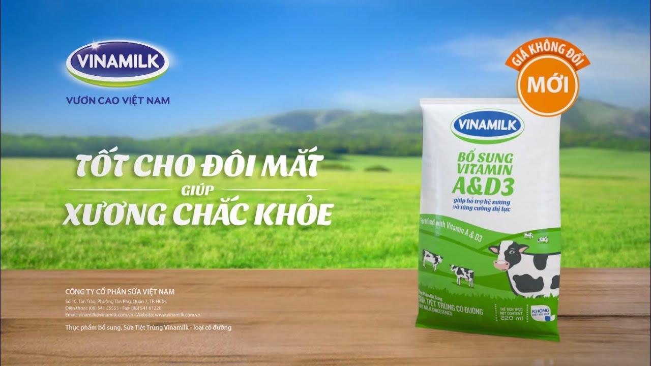 Quảng cáo Vinamilk – Sữa tiệt trùng Vinamilk dạng bịch 2014