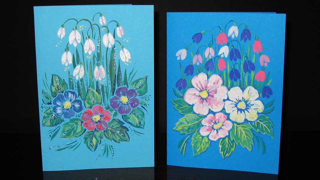 Speed painting spring greeting cards with flowers gouache speed painting spring greeting cards with flowers gouache iotn kristyandbryce Gallery