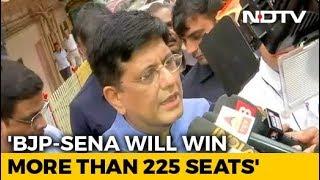 """Maharashtra Election 2019: """"BJP-Shiv Sena Likely To Win 225 Seats In Maharashtra"""": Piyush Goyal"""