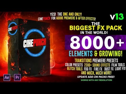 CinePunch   Exploring the Largest FX Pack In The World For After Effects &  Premiere