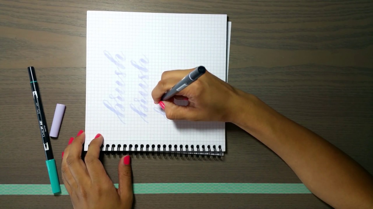 How to hold the brush pen - YouTube