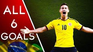 James Rodriguez - World Cup 2014 - All 6 Goals HD