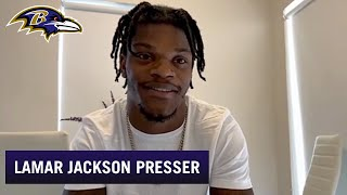 Lamar Jackson's Video Chat With Reporters | Baltimore Ravens
