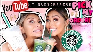 TRYING MY SUBSCRIBERS FAVORITE STARBUCKS DRINKS!! with Yes Hipolito!!   Roxette Arisa