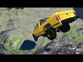 CRASH TESTING CARS OFF GIANT CLIFF 2! Leap Of Death! (BeamNG Drive Mods)