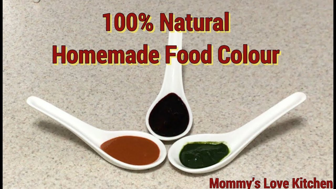 100% Natural Homemade food Colour in Tamil|Edible Homemade food ...