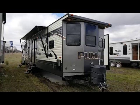 2017 puma 39bht 2 bedroom park model trailer camp out rv in