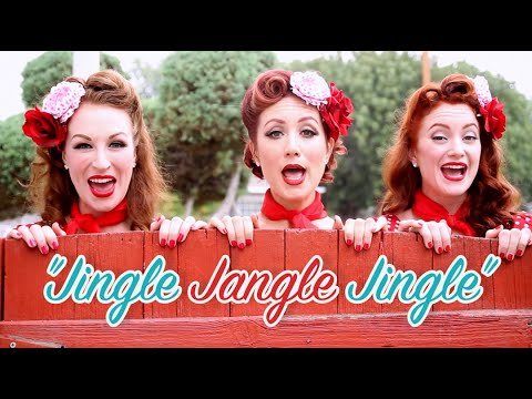 Satin Dollz feat THE RUBYS in official music video - Jingle Jangle Jingle [2016]